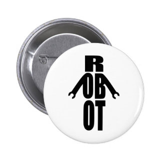 Typographic Robot Buttons