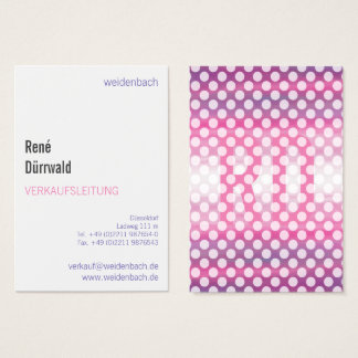 Typographic visiting cards