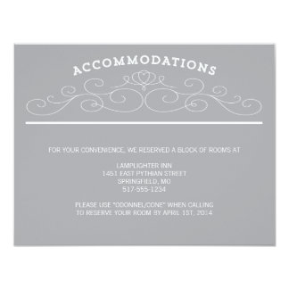 "TYPOGRAPHY ACCOMMODATIONS 4.25"" X 5.5"" INVITATION CARD"