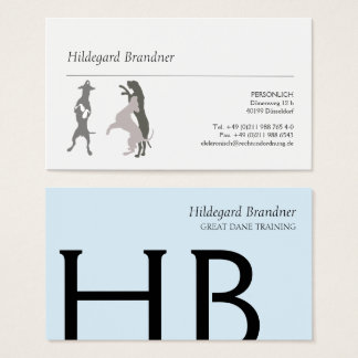Typography and Great Danes Business Card