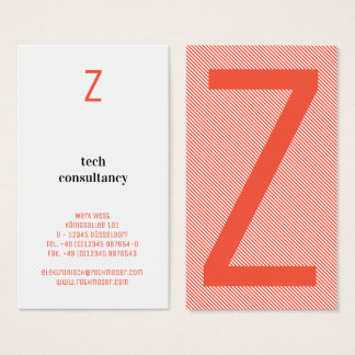 Typography based business card