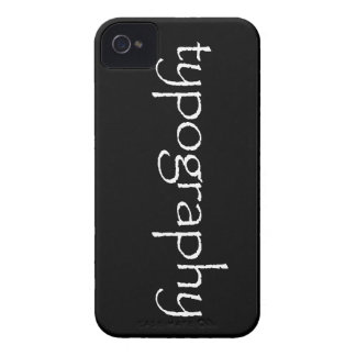Typography Blackberry Case (papyrus typeface)