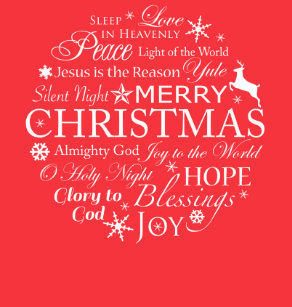 typography christmas words t shirt