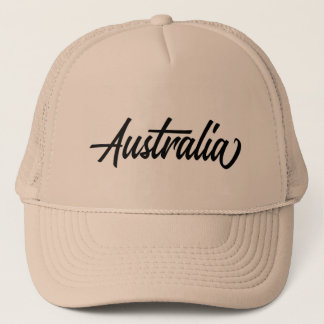 Typography country name for Australia Trucker Hat