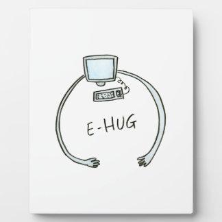 Typography e-hug computer hug display plaques