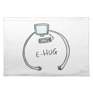 Typography e-hug computer hug placemats