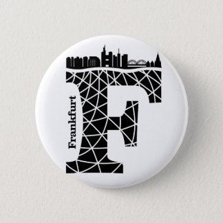 Typography F(Frankfurt: Germany) 6 Cm Round Badge