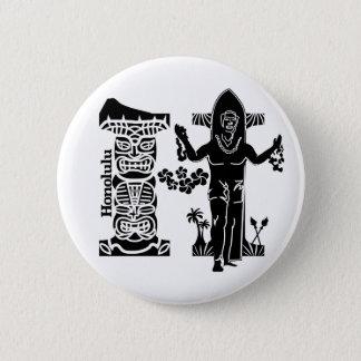 Typography H(Honolulu: USA) 6 Cm Round Badge