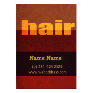 Typography Hair Salon Salons Business Cards