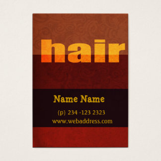 Typography Hair Salon Salons Business Card