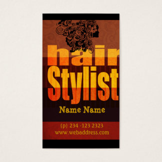 Typography Hairstylist Salon Business Card