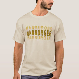 Typography Hamburger T-Shirt