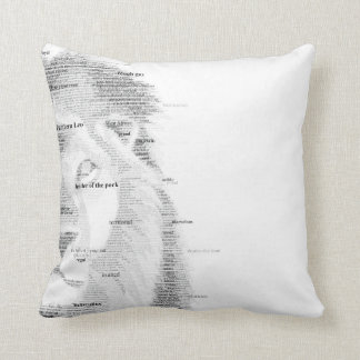 Typography Lion Cushion