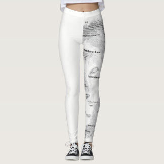 Typography Lion Women Leggings