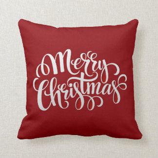 Typography Merry Christmas AND New Year Cushion