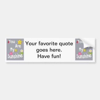 Typography Motivational Phrase - Grey Bumper Sticker