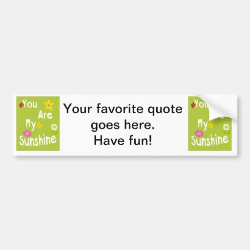Typography Motivational Phrase – Lime Green Bumper Sticker