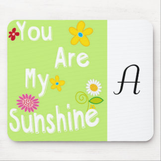 Typography Motivational Phrase - Lime Green Mouse Pad