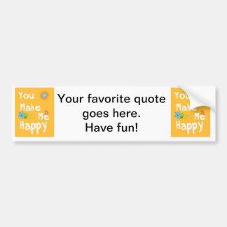 Typography motivational phrase - Orange Car Bumper Sticker