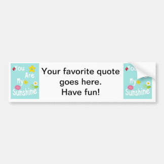 Typography motivational phrase - Pastel Blue Car Bumper Sticker