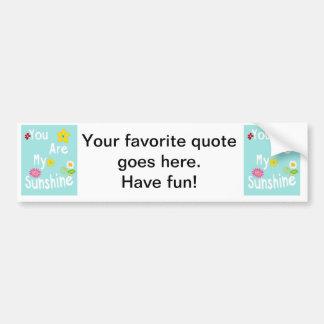 Typography motivational phrase - Pastel Blue Bumper Stickers