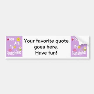 Typography motivational phrase - Pastel Lavender Bumper Sticker