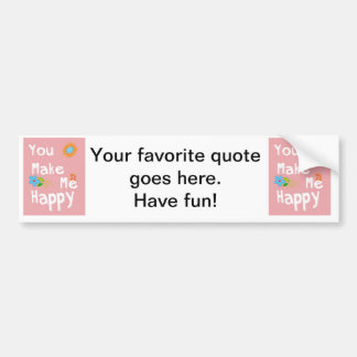 Typography Motivational Phrase - Pink Bumper Sticker