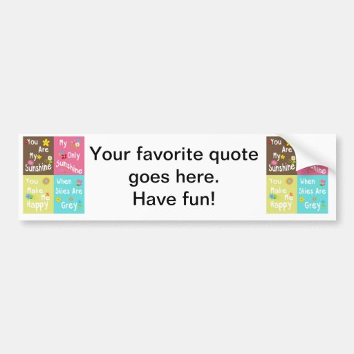 Typography motivational phrases - Collage Bumper Stickers