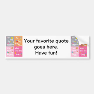 Typography Motivational Phrases - Collage Bumper Sticker
