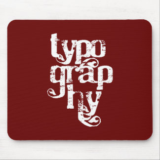Typography Mousepad
