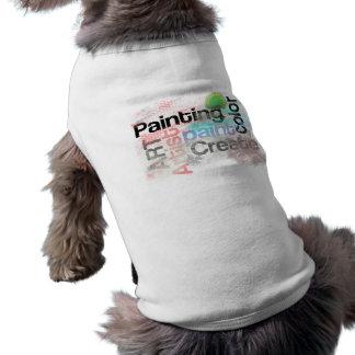Typography Painting Art Create Tree Grunge Words Sleeveless Dog Shirt