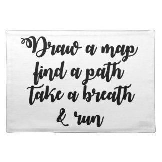 Typography Quote Life Travel Inspirational Gift Place Mat