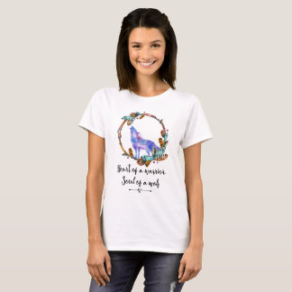 Typography Quote with Wild Wolf in a Boho Wreath T-Shirt