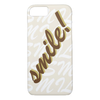 Typography Smile Brown iPhone 8/7 Case
