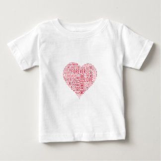 Typography Valentines Word Love Faith Kiss Always Baby T-Shirt