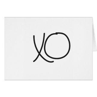 Typography XO hugs and kisses calligraphy Card