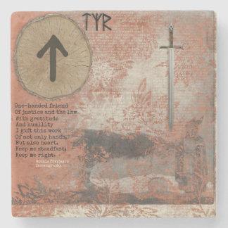 Tyr Blot Art Altar Foci Stone Coaster