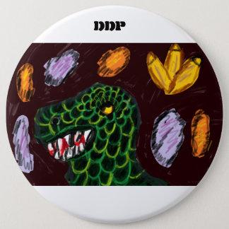 Tyrannosaurus art 6 cm round badge