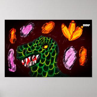Tyrannosaurus art poster