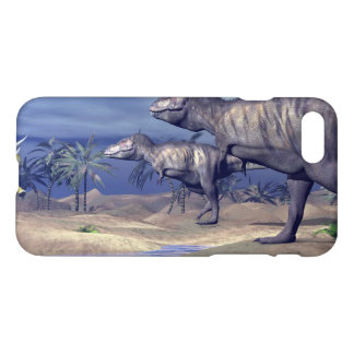 Tyrannosaurus attacking triceratops - 3D render iPhone 8/7 Case