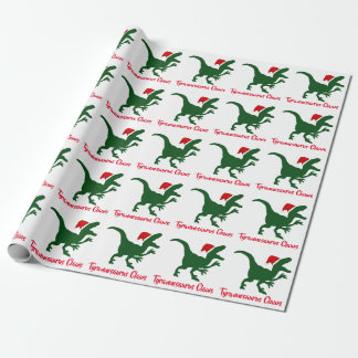 Tyrannosaurus Claws Jurassic Christmas Wrapping Paper