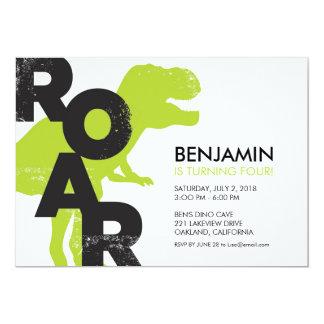 Tyrannosaurus Dinosaur Birthday Party Invitation