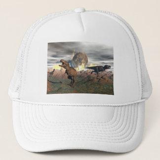 Tyrannosaurus dinosaur exctinction - 3D render Trucker Hat