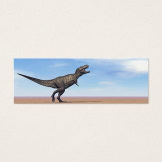 Tyrannosaurus dinosaur in the desert - 3D render Mini Business Card