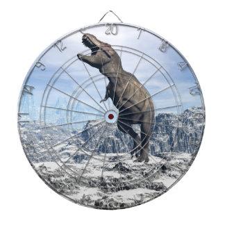 Tyrannosaurus in the snow - 3D render Dartboard