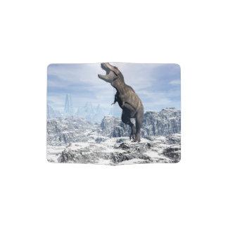 Tyrannosaurus in the snow - 3D render Passport Holder