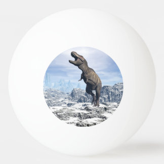 Tyrannosaurus in the snow - 3D render Ping Pong Ball