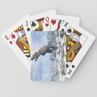 Tyrannosaurus in the snow - 3D render Playing Cards