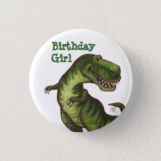 Tyrannosaurus Party Center 3 Cm Round Badge