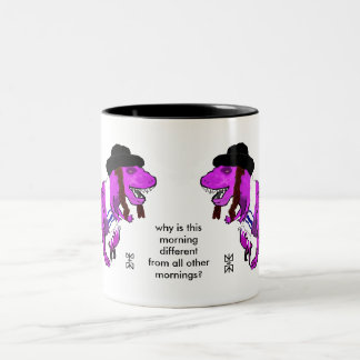 Tyrannosaurus Reuben Passover Fun Mug! Two-Tone Coffee Mug